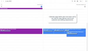 We use google calendar to sort and order our rental deliveries